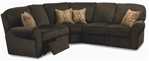 3 piece sectional sofa with recliner megan 3 piece sectional sofa by lane reclining sectional