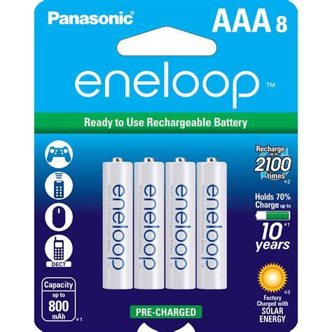 4 Pcs Panasonic Eneloop Aaa 750mah Rechargeable Batteries panasonic eneloop aaa rechargeable ni mh batteries bk 4mcca8ba