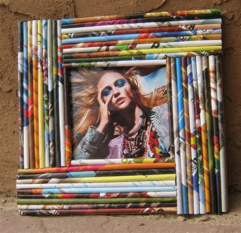 Paper From Magazines - a look at paper reed frames totally green crafts