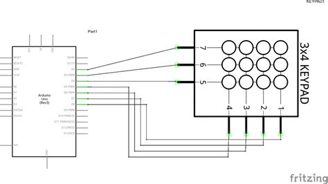 membrane layout design number arduino and a numeric keypad arduino learning