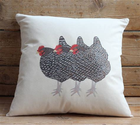 Covers For 3 Cushion Three Hens Cushion Cover By Bird