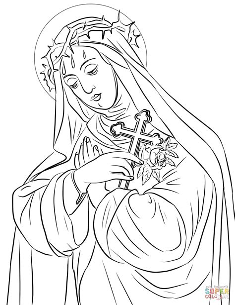 coloring pages of saint rose of lima st rose of lima coloring page coloring pages