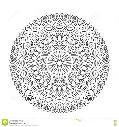 lace pattern color ornamental black lace mandala cartoon vector