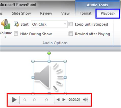 format audio ppt trim audio clips in powerpoint 2010