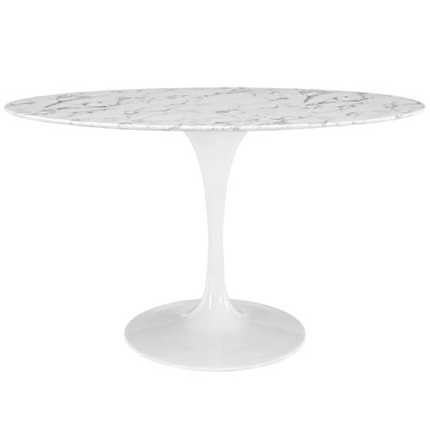 Modern Saarinen Tulip 54 Quot Oval Marble Dining Table Replica New Marble Tulip Table
