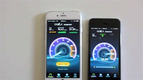 iphone 6 vs iphone 5s telstra 4g and wifi speed test