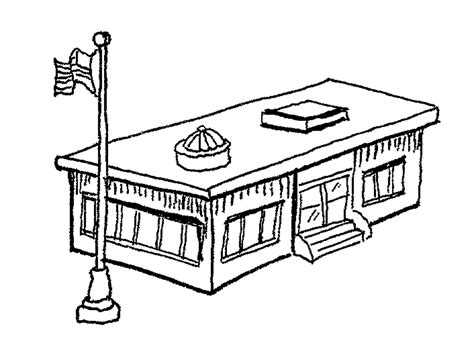 coloring page school building school building clip art cliparts co