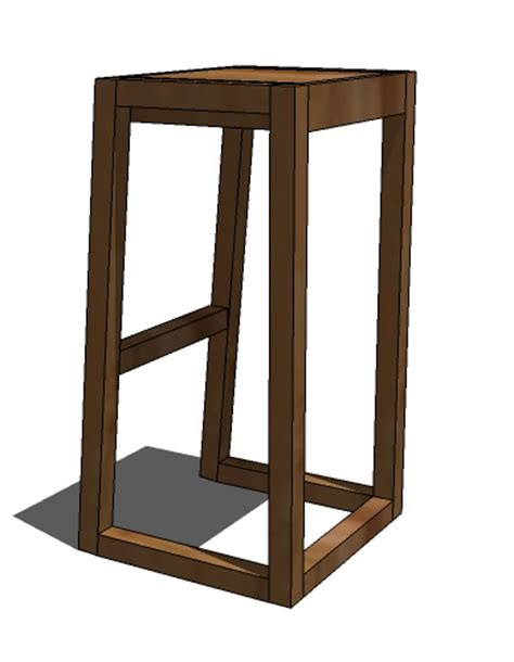 building bar stools plans diy free plans for