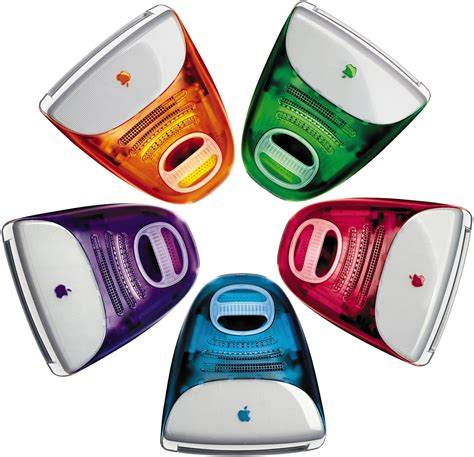 colored apple why and only imacs were colored with