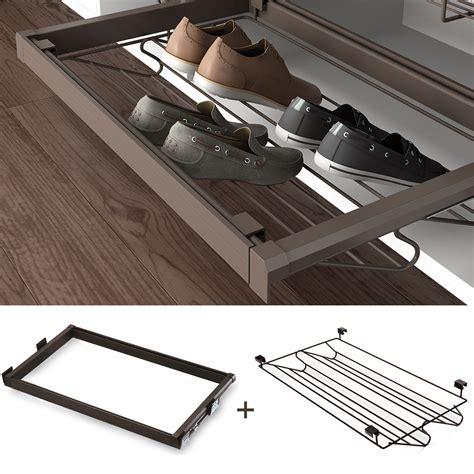 Moka Wardrobe pull out shoe rack drawer