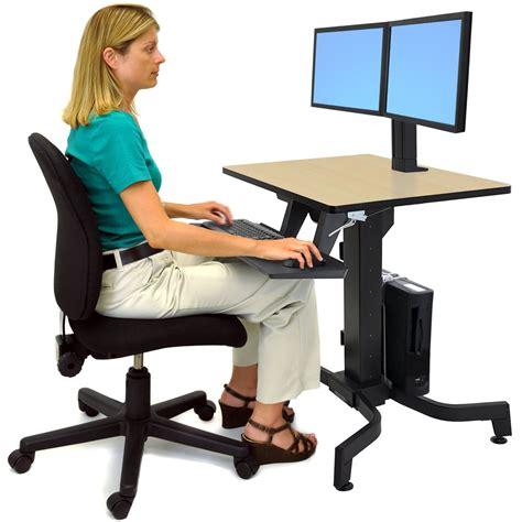 ergotron workfit d sit stand desk standing desk ergotron 24 280 928 workfit pd