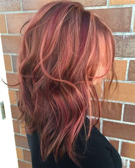 burgundy highlights on shag haircuts 289 best images about hair on pinterest crown braids
