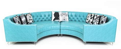 Turquoise Leather Sectional Sofa Www Roomservicestore Circle Sectional In Turquoise Faux Leather