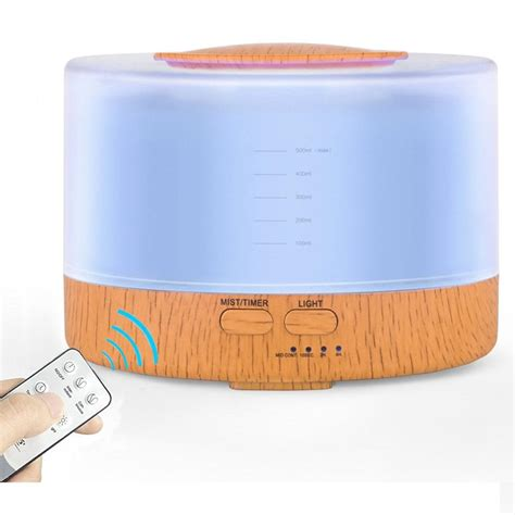 seller remote control aroma diffuser wood grain
