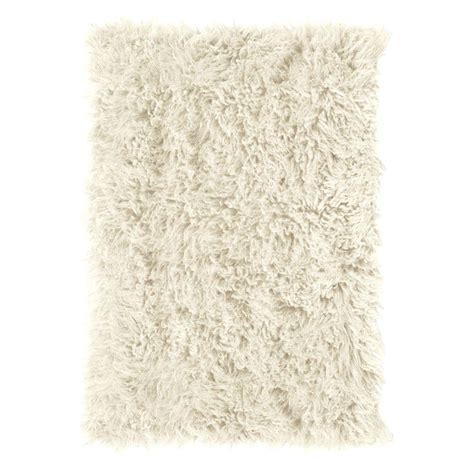 flokati rug home decorators collection premium flokati white 2 ft x 5 ft accent rug 7446410410 the home