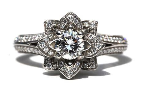 something engagement ring floral design onewed
