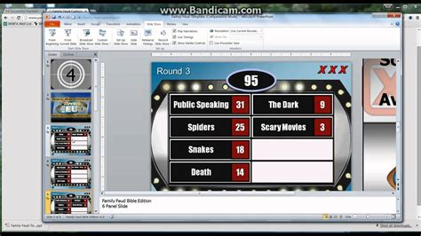 How To Make A Powerpoint Family Feud Template Game Family Feud In Powerpoint