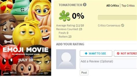 emoji film raten the emoji movie has gotten such bad reviews they re