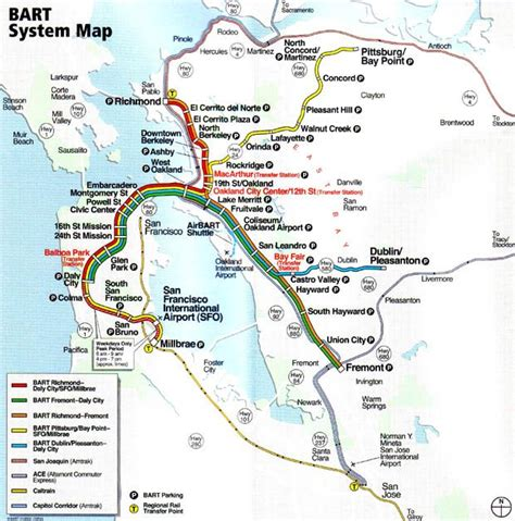 sf bart map bart system map san francisco ca usa travel gt sanfranciscocausa l