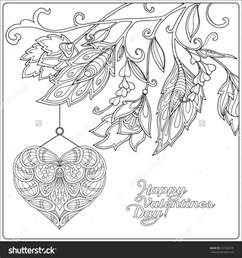 coloring pages happy day card with decorative and flowers free printable