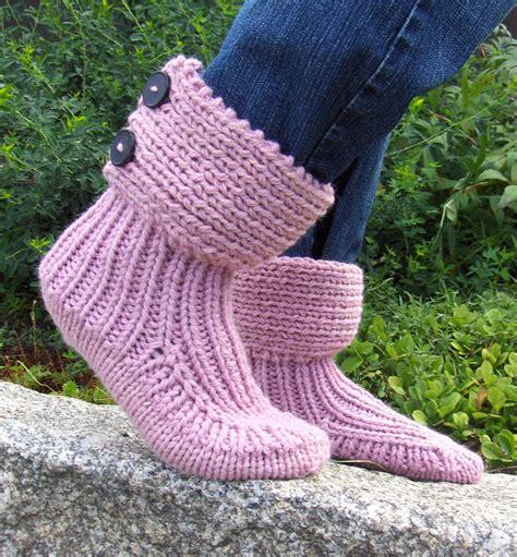 knitting pattern slipper socks easy free knitting pattern for moon socks slipper boots easy