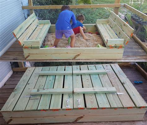 sandbox with folding seats diy sandbox with fold out bench seats moneyrhythm