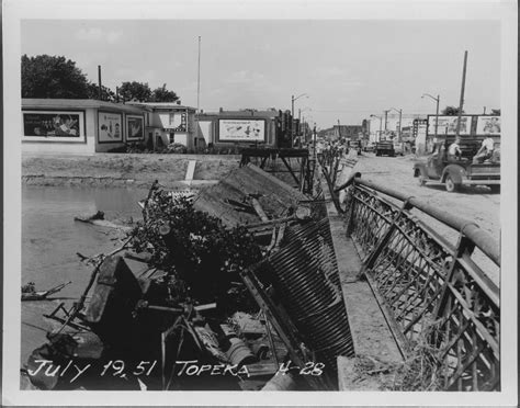 Records Topeka Ks Flood Damage Topeka Kansas Kansas Memory Kansas Historical Society
