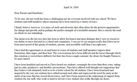 Parent Letter From Principal Pdf April 14 Letter To Parents From County High Principal Julie Cares Capital Gazette