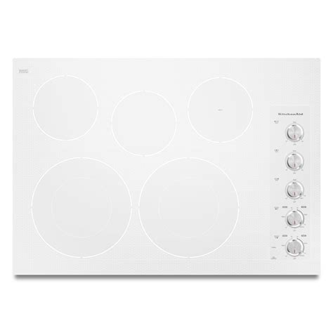 kitchenaid induction cooktop manual kitchenaid kecc605bpw 30 quot 5 element electric cooktop white sears outlet