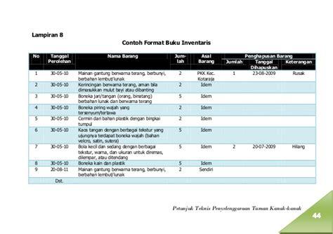 format buku keuangan pkk a01 juknis penyelenggaraan tk