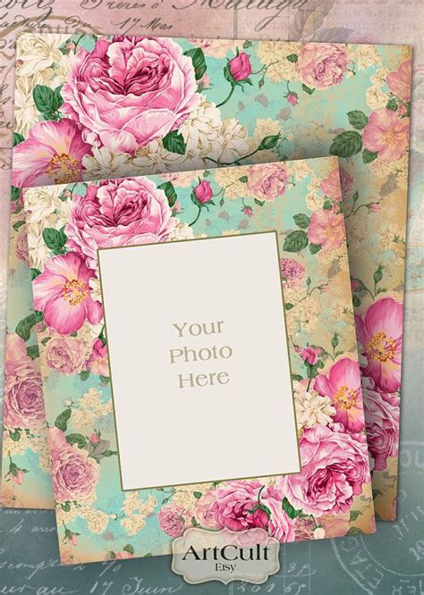 vintage pattern sheets printable downloads photo frame no 1 digital collage