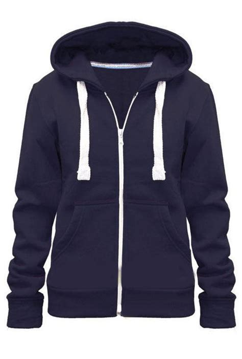 Jaket Zipper Anoixi Orginal 8 womens plain hoodie fleece sweatshirt hooded coat hoodys zip jacket 8 22 ebay