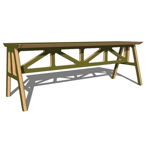 a frame bench truss a frame bench 3d model formfonts 3d models textures