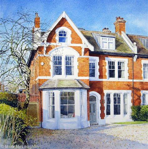 house portraits house portrait alleyn park west dulwich watercolour