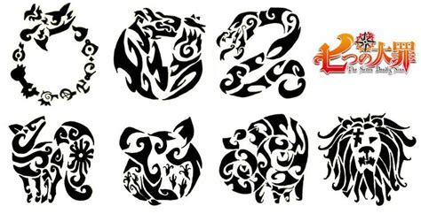7 deadly sins tattoo designs the seven deadly sins search anime