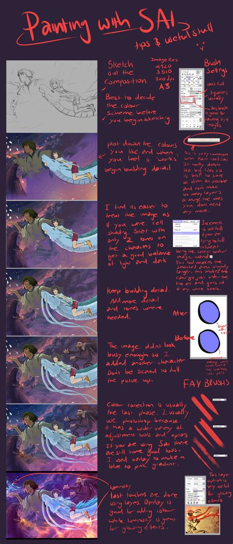 digital tutorial paint tool sai painting and paint tool sai tips by moni158 on deviantart