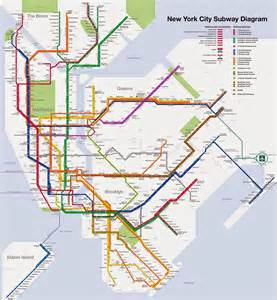 New York Subway Map by Native New Yorker Blog Nyc Subway Map