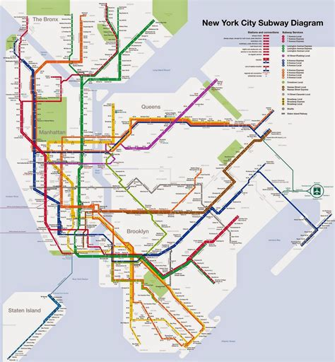 subway map new yorker nyc subway map
