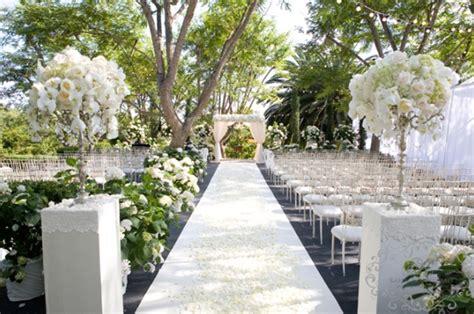 outdoor wedding ceremony decor white and silver wedding theme weddings romantique