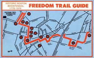 Boston Freedom Trail Map by Freedom Trail Bostonography