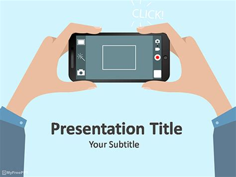 photography powerpoint template free mobile photography powerpoint template