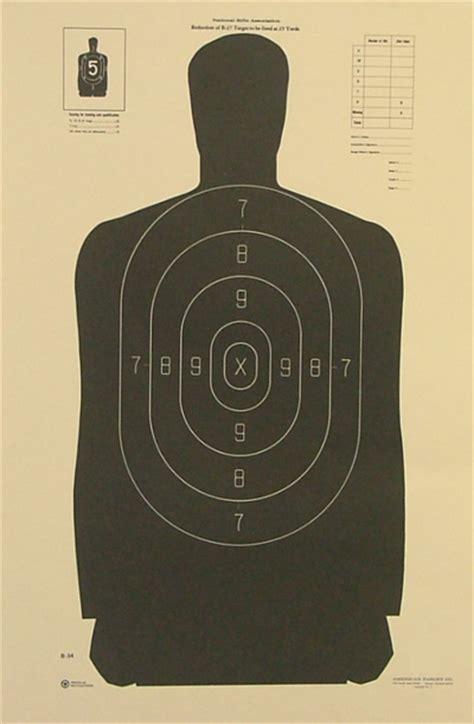 printable law enforcement shooting targets printable b 27 b 34 preferably pdf guns
