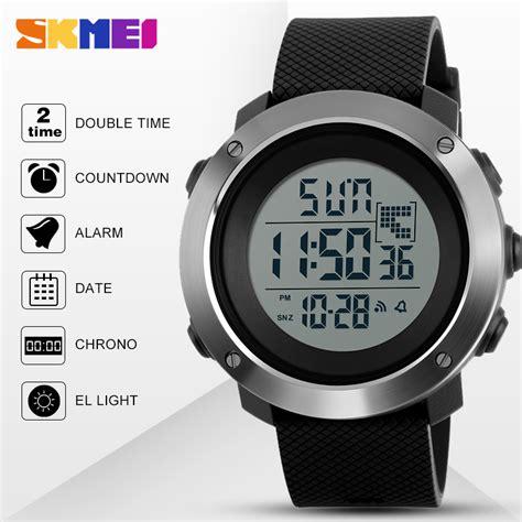 Jam Tangan Digital 5 skmei jam tangan digital pria size small dg1268 gray jakartanotebook