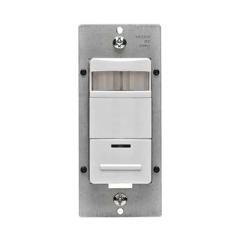 occupancy sensor light switch adjustment leviton decora self adjusting passive infrared occupancy
