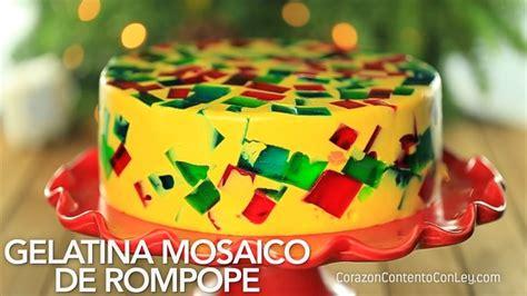 gelatina mosaico de pia m 225 s de 25 ideas incre 237 bles sobre gelatina de rompope