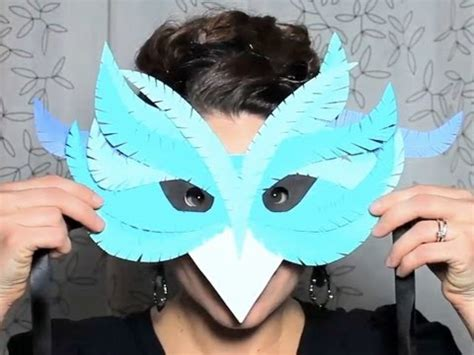 A Mask Out Of Paper - diy paper mask