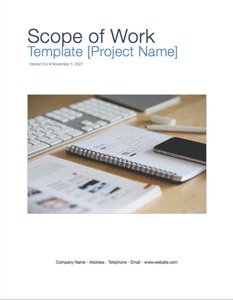 Scope Of Work Template Apple Iwork Pages Cctv Scope Of Work Template