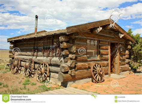 Rustic Log Cabin Plans trappers house royalty free stock image image 25406906