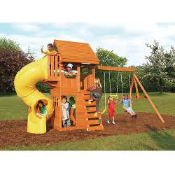 Backyard Discovery Tanglewood Cedar Wooden Swing Set by Play And Climb On Toys Shop
