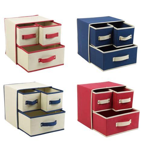Drawer Storage Boxes by 3 Drawer Fabric Storage Box 538709